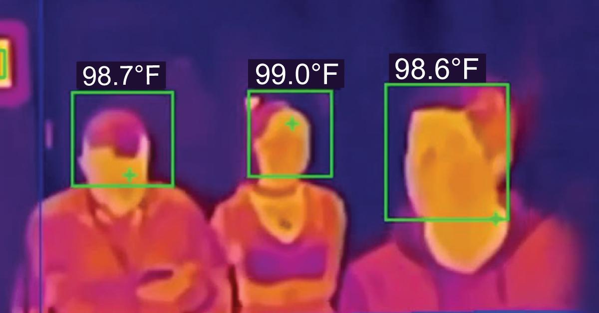 Thermal image temperature reading